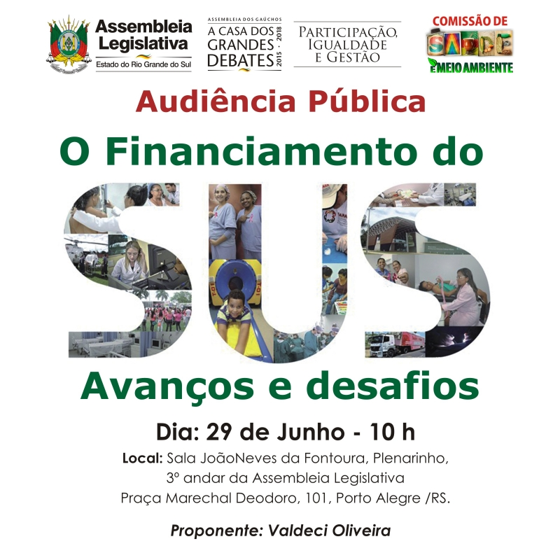 Audiência Pública: Financiamento do SUS, na Assembleia Legislativa